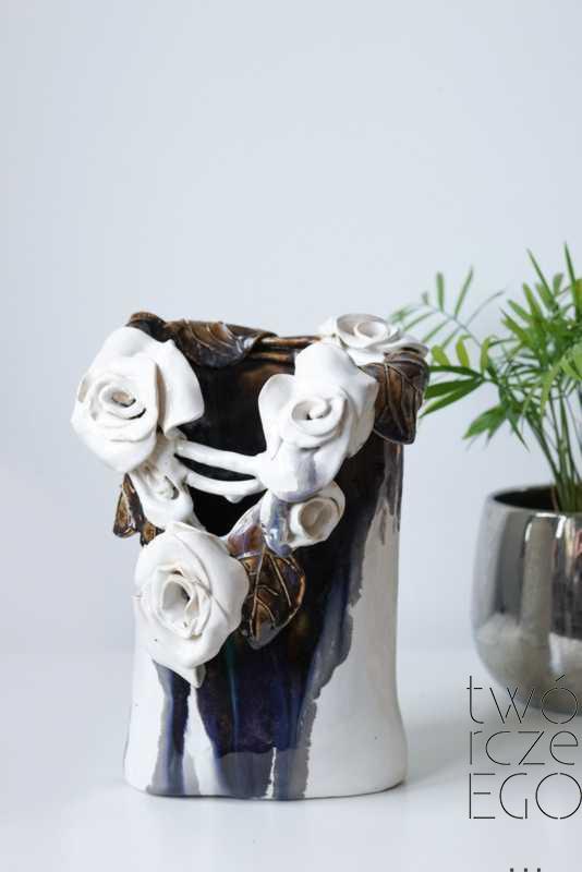 Wazon róże elipsa