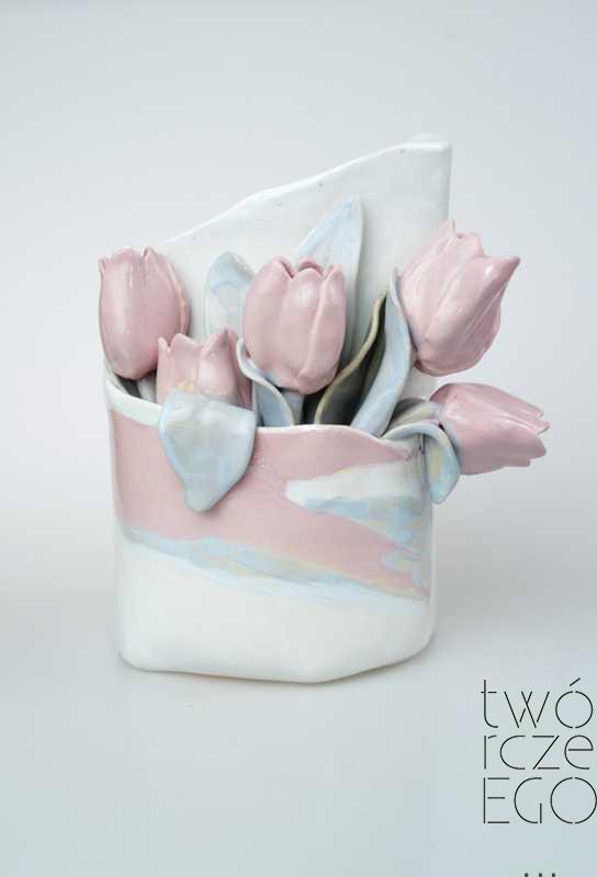 Wazon tulipany różowy