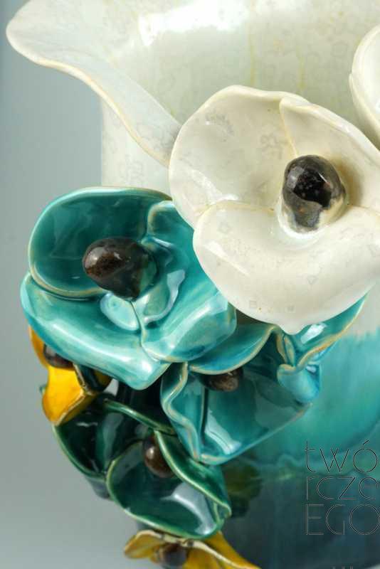 Wazon maki turkusowy