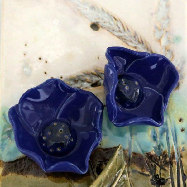 Obrazek kwiaty (granatowy)